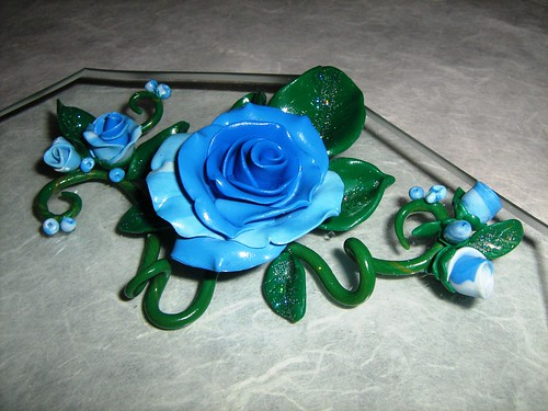 Blue rose... by Cristina Crijoux