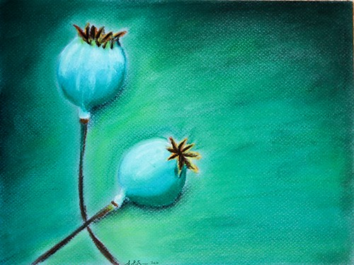 First Pastel painting - Pods