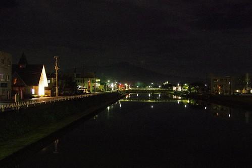 新井田川と鳥海山