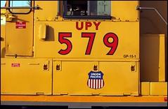 Runs and Drips in the Yellow (greenthumb_38) Tags: railroad morning train earlymorning trains unionpacific locomotive anaheim sled gp switcher wye emd gp151 canon40d westanaheim jeffreybass loa32 costamesajob remotesled anheimwye loa25 loa32r