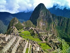 Machu Picchu the next day.  Note: Littered with tourists.