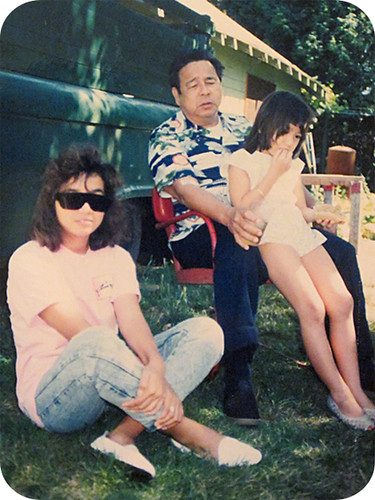 1989 styling: my sister bobbie, my dad, and me!