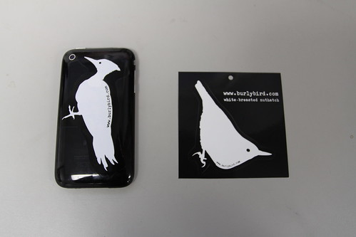 Pileated Woodpecker and White-breasted Nuthatch Stickers