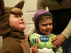Ana the Kangaroo and Dominic as Buzz