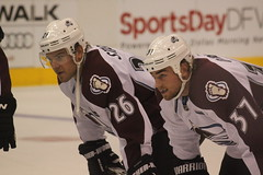 Paul Stastny and Ryan O'Reilly of the Colorado Avalanche (Hazboy) Tags: oreilly sports hockey sport stars paul nhl star dallas colorado texas state 26 fort ryan center national american lone ft worth 37 airlines league avs avalanche lnh stastny hazboy hazboy1