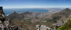 Cape Town from Table Mountain (Panoramic) (Luke Robinson) Tags: africa panorama southafrica pano capetown panoramic tablemountain westerncape 2011 tablemountainnationalpark panosource
