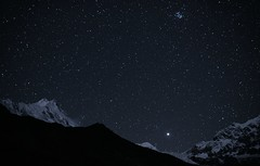 Manaslu (8156 m), Pleiades and Jupiter (Oleg Bartunov) Tags: flickraward