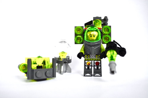 Lex Luthor in kryptonite Power Armor