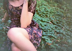 (allisonwells) Tags: fall film floral 35mm weeds dress clovers