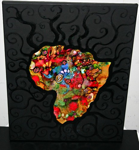 "AFRICA 16"" x 20"" Canvas  by Rick Cheadle Art and Designs"