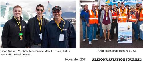 Jacob Nelson, Matthew Johnson and Marc O'Brien featured in Arizona Aviation Journal