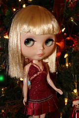 Rowan put on her Christmas dress and sparkled bright!