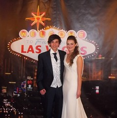 Bride & Groom Vegas Backdrop
