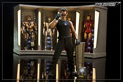 Sunglasses at Night (Bleau Aquino) Tags: scale ironman 16 diorama tonystark markv customs markii marki markiii markiv markvi hottoys geewhiz bleauaquino hallofarmors