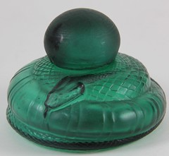 60. Luzia Art Glass Serpent Inkwell