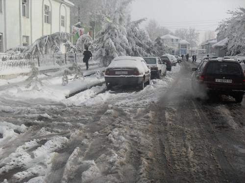 Последствия снегопада в Курган-тюбе (9)