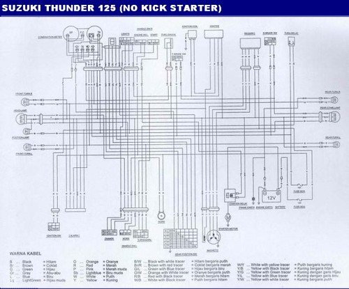 wiring diagram kelistrikan suzuki thunder 125 flickriver masih fahrur rozi s photos tagged with sepedah  masih fahrur rozi s photos tagged