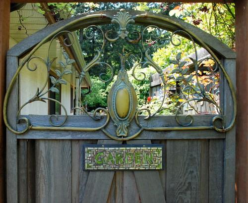 Garden Sign on a Magical Garden Gate