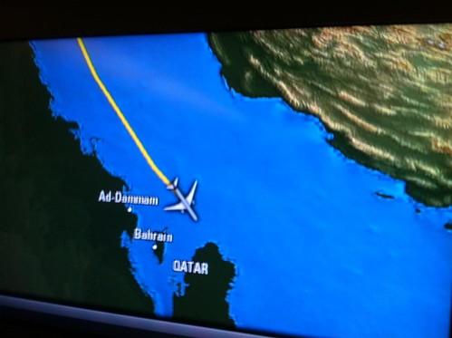 Approaching Doha, Qatar