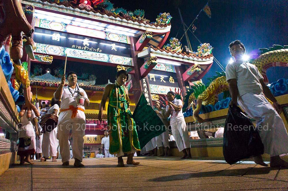 Nine Emperor Gods propitiation farewell @ Ban Tha Rue Shrine, Phuket Vegetarian festival 2011, Phuket, Thailand