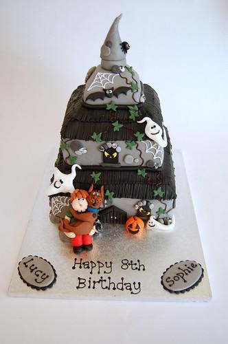 Swell Scooby Doo Haunted House Cake Beautiful Birthday Cakes Funny Birthday Cards Online Inifofree Goldxyz