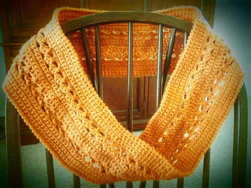 Orange Mobius Scarf by Patty Martyn
