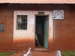 Tanzania, Africa, School Entrance, Heavy Rain Spatters Red Soil up on the Building (Mary Warren (7.1+ Million Views)) Tags: africa door school tanzania entrance safari