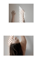 self, distortion (Kristine Eng) Tags: light distortion selfportrait nude diptychs distortedbody
