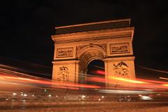 Traffic ... (sownak) Tags: longexposure light red paris france beautiful circle square gold europe traffic arc triumph archedetriumph 1000d sownak