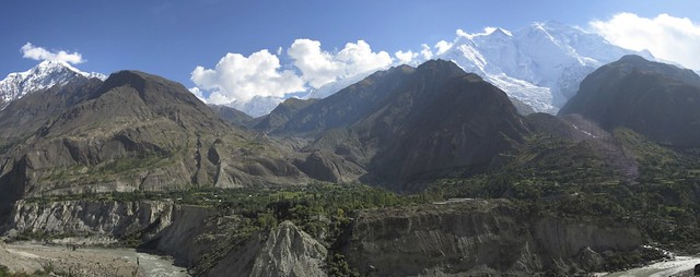 Diran (7257m) and Rakaposhi (7788m) from Karimabad.