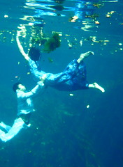 PA060277 (RobertsOliviaL) Tags: blue people water girl swimming underwater dress dancing floating clothes whimsical