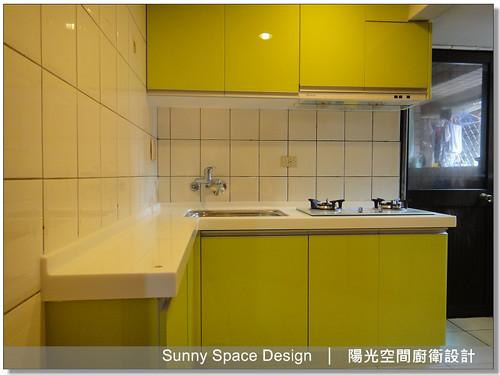 L型廚具-永和永和路一段莊先生9-陽光空間廚衛設計