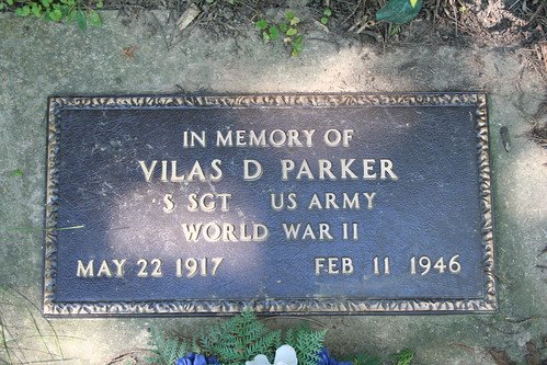 Memorial Marker for Vilas D. Parker