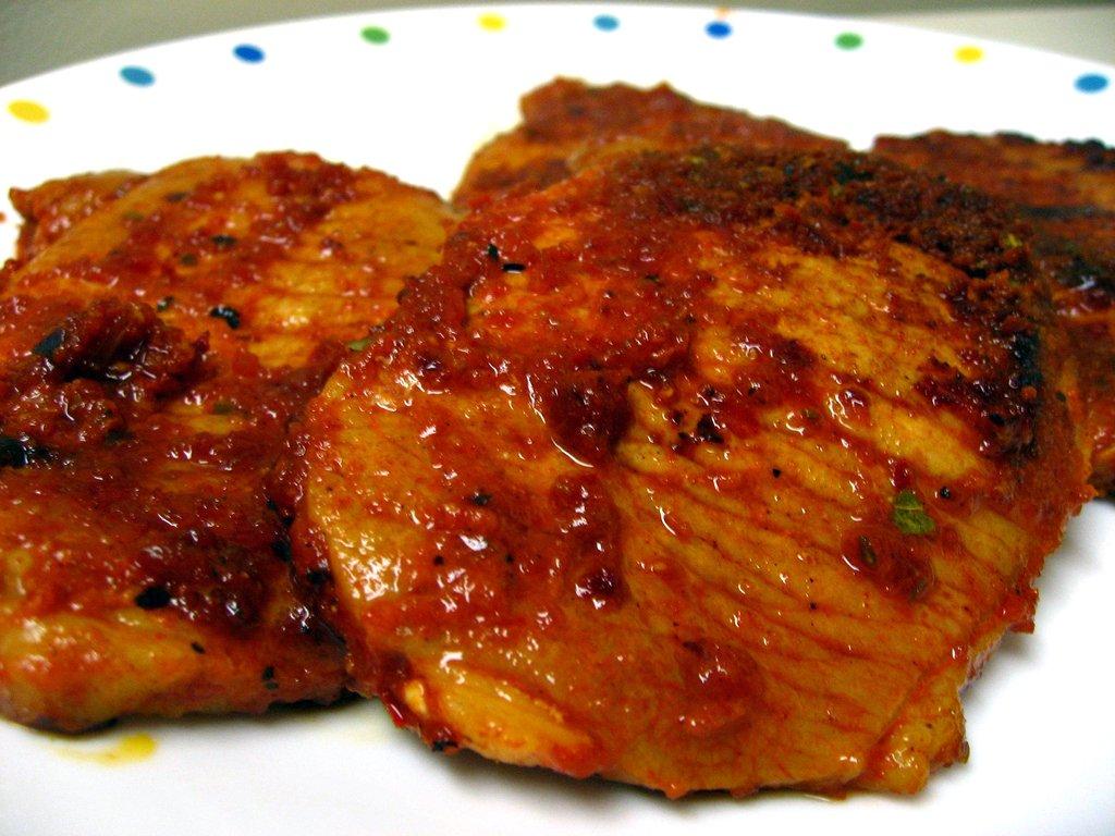 chorizo-style pork chops