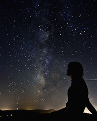 (BlackRockBacon) Tags: august galaxy sihlouette milkyway 2011