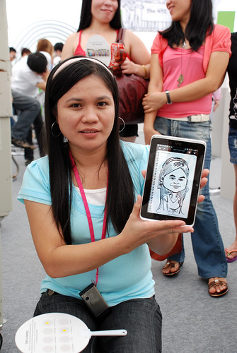 digital caricature live sketching on HTC Flyer for HTC Weekend - Day 2 - 4