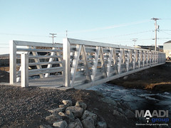 PEDESTRIAN & TRAIL BRIDGE IMPROVE ACCESS IN NORTHERN QUEBEC (maadigroup inc) Tags: