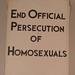 Frank Kameny protest sign