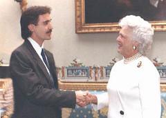 1991 White House photo op w/Barbara Bush