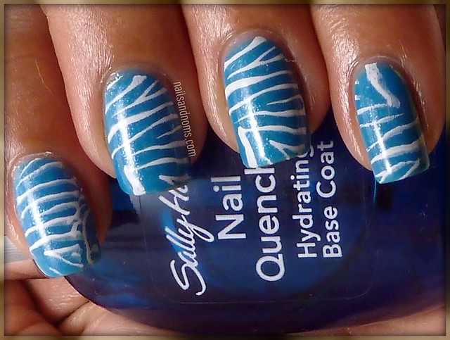 Day 13: Animal Print (Essence Pool Party & Konad Special White)