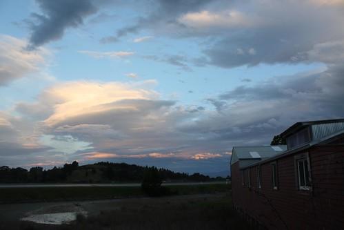 A cloudy evening.