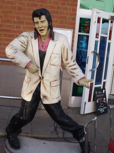 Elvis Presley - dummy in Leamington Spa