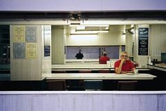 Thoughts, interrupted (cjbroatch) Tags: man breakfast 35mm alone empty diner cjbroatch colinbroatch