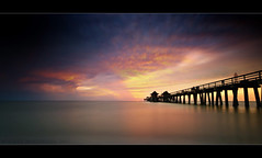 Fading Away (scott masterton) Tags: travel light sunset usa clouds scott pier long exposure pentax florida gap naples ghosts fascinating masterton sigma1020mm nd400 ndx400 k200d