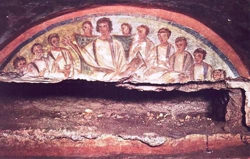 Jesús y los Apostoles en Domitilla
