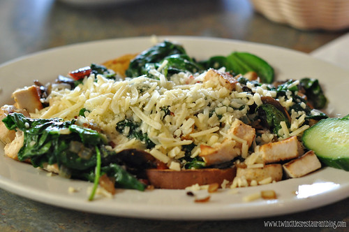 Open Faced Chicken, Spinach, Roasted Pepper at Taste of Scandinavia ~ Little Canada, MN