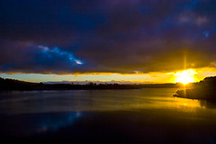 Low Cloud Sunset (edwinemmerick) Tags: sunset sky cloud lake 20d water weather canon river eos dam edwin emmerick edwinemmerick fishriverdam