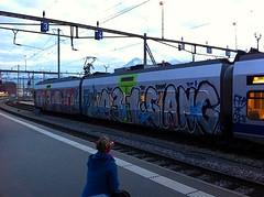 031 Gang (Chiefrocker9000) Tags: train grafitti panel gang ugly vandalism piece bombing 031 ftp wäääääh swissgrafitti 031gang