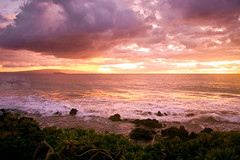 inspired (Csbr) Tags: ocean travel pink light sunset red sea summer sky sunlight color beach nature water clouds landscape island hawaii golden coast twilight flora break purple pacific south wave maui september tropical fairmont oceania 2011 1755mmf28 waileamakena gettyscreening