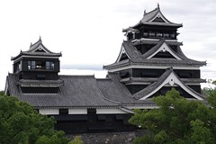 Kumamoto Castle (ELCAN KE-7A) Tags: tower castle japan pentax   kumamoto  k7 2011